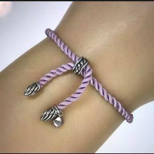 David Yurman Lavender silk rope cord bracelet
